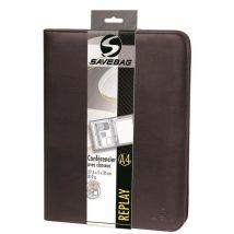 Savebag Conférencier classeur porte tablette Replay format A4 Marron