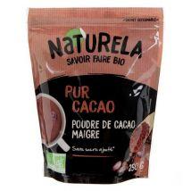 Naturela 250g Pur Cacao Maigre 10 12% Mg Sans Sucre Bio