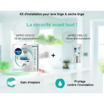 Pack Kit d'installation Kit de superposition + Vanne anti inondation