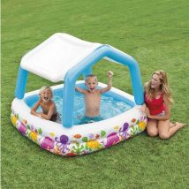 Intex Piscine Ombrelle Aqua 157X157x122cm