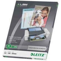 Leitz 100 Pochettes de plastification A3 Brillant 175 microns 210 x 297 mm