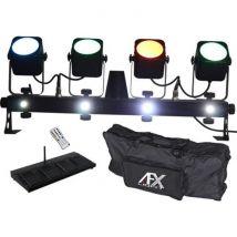 Afx Combo Bar Pack barre avec 4 projecteurs à Led avec pédale sans fil