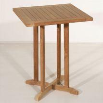 Table de jardin en teck massif Bistrot 60x60
