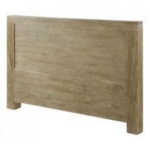 Nesie Tête de lit style scandinave en bois teck massif teinté gris clair L 182 cm