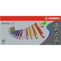 Stabilo Etui carton lot de 18 crayons de couleur multi talents 1 taille crayon