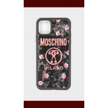 Moschino Floral Logo iPhone 11 Pro Max Case - Black - Womens, Black
