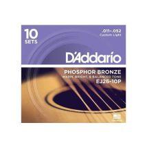 D'addario D'Addario Cordes en bronze phosphoreux pour guitare acoustiq