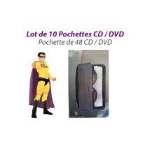 Tekuni Lot de 10 sacoches rangement tekuni 48 cd housses classeurs cd-