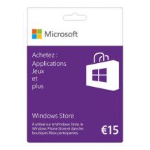 Microsoft Carte Windows Store 15€ Logiciel