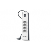 Belkin 4 PRISES FR + 2 USB Onduleurs & Parafoudres