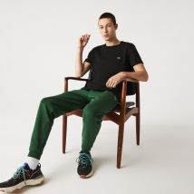 Lacoste - T-shirt col rond en jersey de coton pima uni - Couleur : Noir
