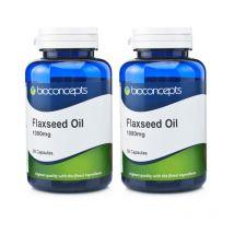 Bioconcepts Flaxseed Oil 1000mg - Twin Pack