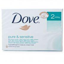 Dove Pure & Sensitive Beauty Cream Bar Twin Pack