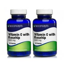 Bioconcepts Vitamin C with Rosehip Tablets 500mg - 180 Tablets