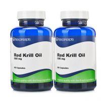 Bioconcepts Red Krill Oil 500mg - Twin Pack