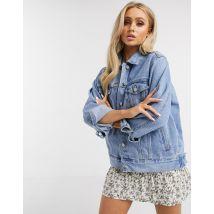 Missguided - Veste oversize en jean-Bleu