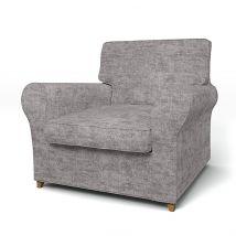 IKEA - Ängby Armchair Cover (Small model), Titanium, Velvet - Bemz