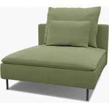 IKEA - Söderhamn 1 Seat Section Cover, Olive, Linen - Bemz