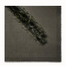 Fendi Touch Of Fur Shawl, Black