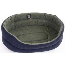Corbeille Chien Tissu Ovale Bleu/gris - 55cm