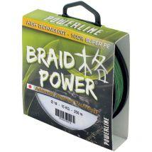 Braid Powerline Braid Power Green - 130m Tbpv110