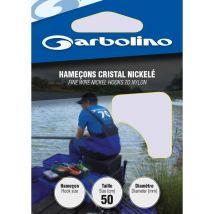 Hamecon Monte Garbolino Cristal Nickele - Par 10 No18 - 10/100