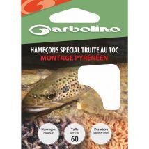 Hamecon Monte Garbolino Special Truite / Montage Pyreneen - Par 10 No14 - 10/100