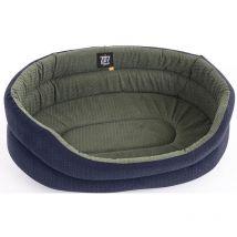 Oval Plain Fabric Dog Basket Contemporary Grey - 45cm