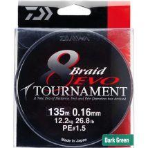 Treccia Daiwa Tournament 8 Braid Evo Verde -300m 12781030