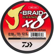 Tresse Daiwa J-braid Grand X8 Bleu - 270m 28/100