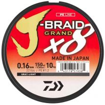 Tresse Daiwa J-braid Grand X8 Gris - 270m 10/100