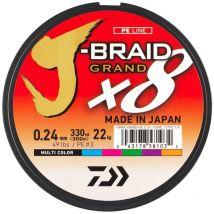Tresse Daiwa J-braid Grand X8 Multicolore - 150m 16/100