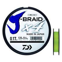 Tresse Daiwa J Braid X4b Jaune - 270m 21/100