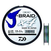 Tresse Daiwa J Braid X4b Multicolore - 1500m 29/100