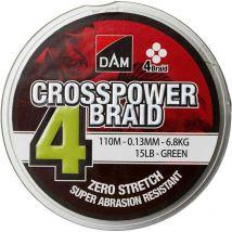 Tresse Dam Crosspower 4-braid Vert - 110m 10/100