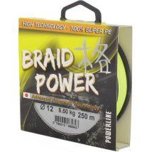 Tresse Powerline Braid Power - Jaune - 130m 130 M - 12/100