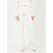 high-rise mom jeans berenice off white