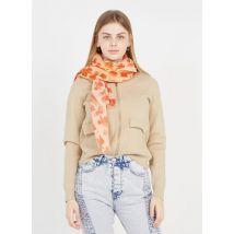 printed cotton scarf feeka island vibes corail