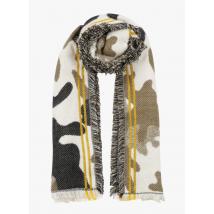 printed scarf ikks kaki