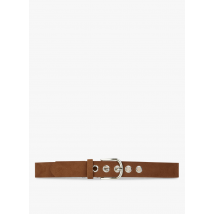 suede belt with buckle la fee maraboutee camel