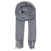 fringed knit scarf levi's gris