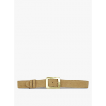 leather belt with buckle mkt brown