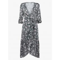 floral print midi wrap dress morgan multico