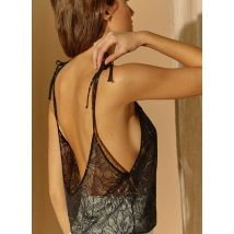 strappy v-neck lace top noo goldie bloom