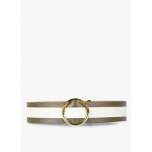 two-tone wide leather belt tara jarmon kaki