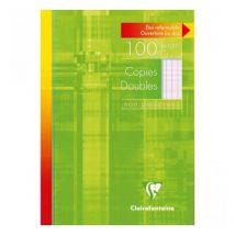 Copies doubles non perforées - Seyès- 21x29,7cm - 100 pages - Clairefontaine