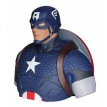 Tirelire Buste - Captain America - Marvel