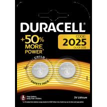 Pile bouton lithium Duracell spéciale 2025 3 V, pack de 2 (DL2025/CR2025)