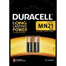Pile alcaline Duracell spéciale MN21 12 V, pack de 2 ( A23 / 23A / V23GA / LRV08 / 8LR932 )