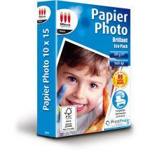 PAPIER PHOTO 10X15 CM 200G/M² - 80 FEUILLES - MICRO APPLICATION - Micro Application